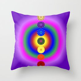 Align your energy centres Throw Pillow