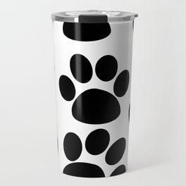 Puppy Paws Black Travel Mug