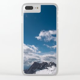 A beautiful day in the mountains Clear iPhone Case