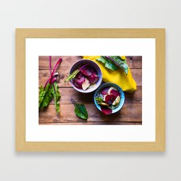 Beetroot and Potato salad Framed Art Print