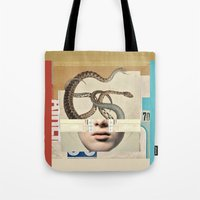 medusa Tote Bags featuring medusa by Robert Alan