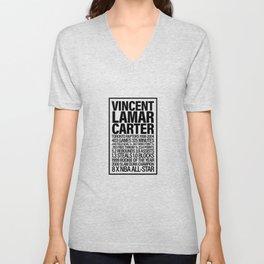 Vince Carter - All Time Raps Stats Unisex V-Neck