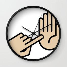 Grand Rapids Michigan Hand Map Wall Clock