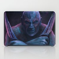thanos iPad Cases featuring Drax and Thanos by Jaime Gervais
