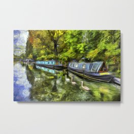 Little Venice London Art Metal Print