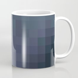 Sea of Pixels Slate Blue and Grey Abstract Art Coffee Mug