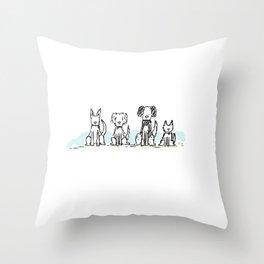 Beggin' at the Dog Park Throw Pillow