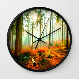 This forest feels like home Wall Clock
