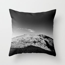 Monochrome mountain Throw Pillow