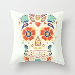 Day of the Dead Sugar Skull Candy Throw Pillow