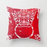 korean Throw Pillows featuring korean goblin - DOKKAEBI by T.Grimm
