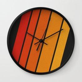 Retro 70s Stripes Wall Clock