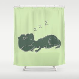 DINOSNORE Shower Curtain