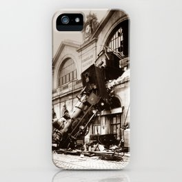 Train Derailment At Montparnasse Station - 1895 iPhone Case