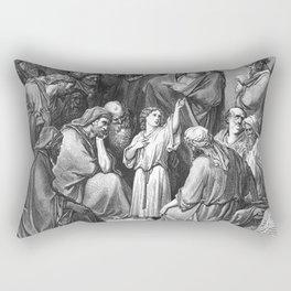 Jesus With The Doctors Rectangular Pillow