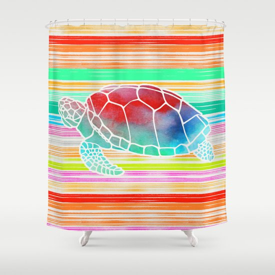 Turtle Collage by Garima and Jacqueline Shower Curtain