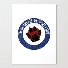 Wolf Badge Canvas Print