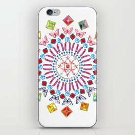 Gems and Butterflies iPhone Skin