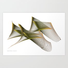 Mathematical Portrait of a Dinosaur Art Print