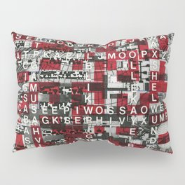 Paradox Network (P/D3 Glitch Collage Studies) Pillow Sham