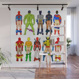 Superhero Butts Wall Mural