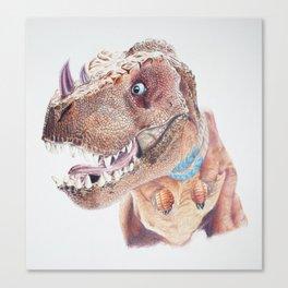 Bloodfen Raptor Dinosaur Canvas Print