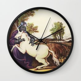 The Darkside of the Unicorn Wall Clock