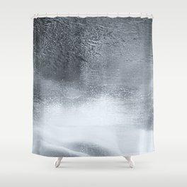 Ocean Mist - Minimal Grey Distressed Grunge Shower Curtain