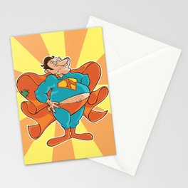 Agnoman, the drunk superhero Stationery Cards