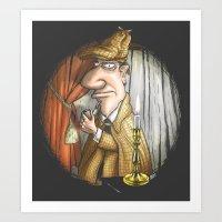 sherlock holmes Art Prints featuring Sherlock Holmes! by Berni Store