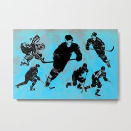 Game on! - Hockey Night Metal Print