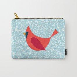 Cardinal Flowers, Carolina Blue Carry-All Pouch