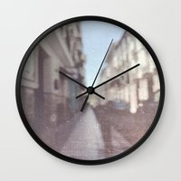 madrid Wall Clocks featuring Madrid, Spain by Jane Lacey Smith