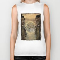 angels Biker Tanks featuring Zombi angels by gunberk