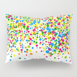 Rain of colorful confetti Pillow Sham