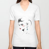 gem V-neck T-shirts featuring Gem by putemphasis