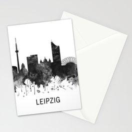 Leipzig Germany Skyline BW Stationery Cards