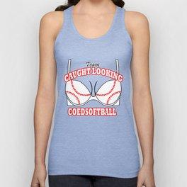 coed football coed softball team caught looking coedsoftball Unisex Tank Top