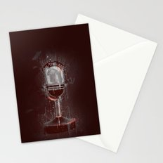 DARK MICROPHONE Stationery Cards