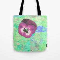 Looking back in the light green room Tote Bag