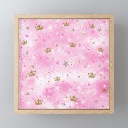 Pink Princess Framed Mini Art Print