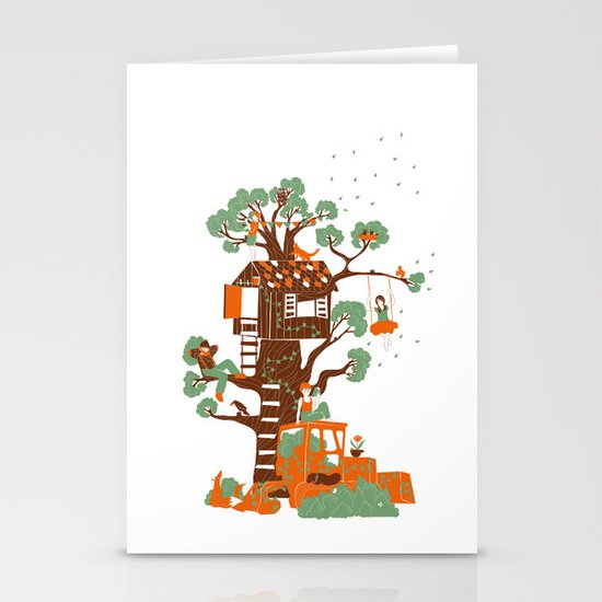 Mon arbre Stationery Cards