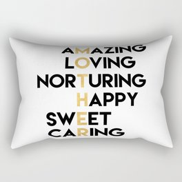 DEAR MOTHER Mothers Day quote Rectangular Pillow