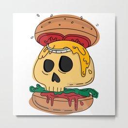 Deadly burger Metal Print
