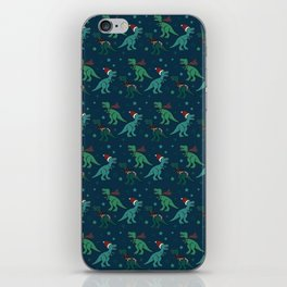 Holiday T-Rex iPhone Skin