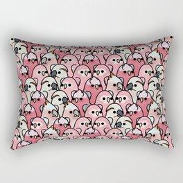 Too Many Birds!™ Pink Parrot Posse Rectangular Pillow