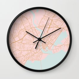 Galway map Wall Clock