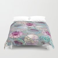 biology Duvet Covers featuring Cell Balls by Klara Acel