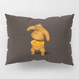 Orange Bear Pillow Sham