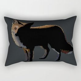 Fox in the Night Rectangular Pillow